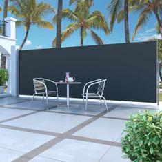 shumee Zatahovací boční markýza / zástěna 160 x 500 cm černá