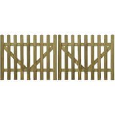 shumee Brama do płotu, 2 elementy, impregnowane drewno, 300x120 cm