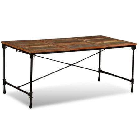 shumee Jedilna miza iz masivnega predelanega lesa 180 cm
