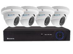 Securia Pro IP kamerový set 4MPx NVR4CHV4-W DOME Nahrávanie: bez disku