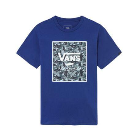 Vans koszulka chłopięca S niebieska