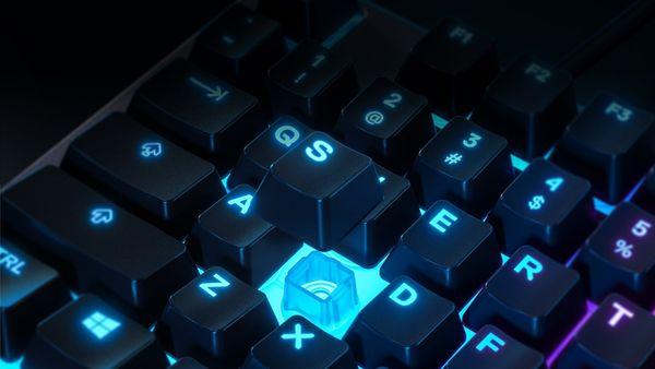 herná klávesnica SteelSeries Apex 3, US (64795) membránová RGB vodoodolná IP32 multimédiá