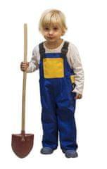 MAGG Dětské pracovní laclové kalhoty - lacláče, modrožlutá barva, velikost 110