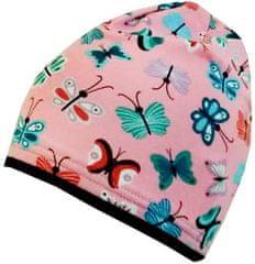 Yetty czapka dziewczęca z motylkami