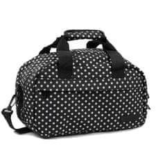 Member's Cestovní taška MEMBER'S SB-0043 - černá/bílá