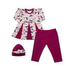 NEW BABY 3-dielna bavlnená súprava New Baby Little Girl 62 (3-6m) Ružová