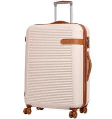 Rock Cestovní kufr ROCK TR-0159/3-L ABS - krémová