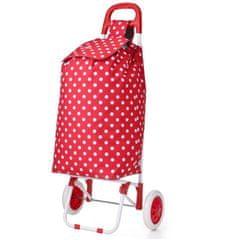 Aerolite Nákupní taška na kolečkách HOPPA ST-205 - červená