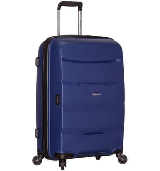 AZURE Cestovní kufr SIROCCO T-1208/3-L PP - modrá