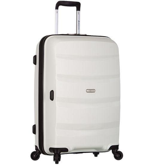 AZURE Cestovní kufr SIROCCO T-1208/3-L PP - bílá