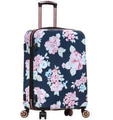 AZURE Cestovní kufr SIROCCO T-1251/3-L PC - Flower
