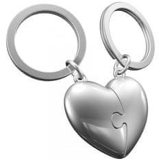 MTM Gifts MTM Klíčenka srdce puzzle zlato & hnědá