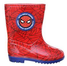 Eplusm Chlapčenské gumáky Spiderman - červená
