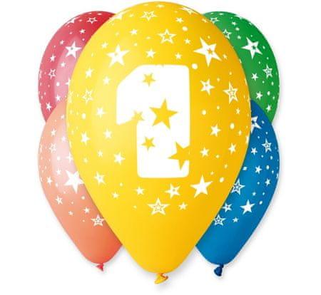 Gemar Lateks baloni številka 1 mešajte barvo - na heliju - 5 kos