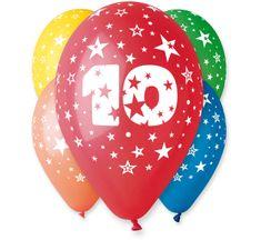 Gemar Latex Balloons Száma 10 színes mix-on hélium-5db