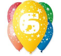 Gemar Latex Balloons Száma 6 színes mix-on hélium-5db