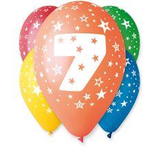 GoDan Latexové balóny číslo 7 mix farieb - na hélium - 5ks
