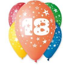 Gemar Latex Balloons száma 18 színes mix-on hélium-5db