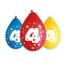 GoDan Latex Balloons Number 4 mix színek-on a levegő-5db