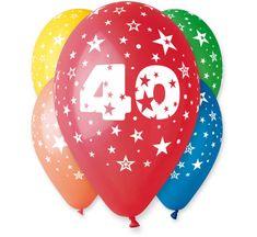 Gemar Latex Balloons száma 40 színes mix-on hélium-5db