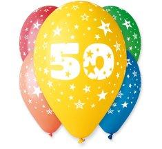Gemar Latex Balloons száma 50 színes mix-on hélium-5db