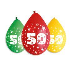 Gemar Latex Balloons Száma 50 mix színes levegő-5db