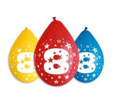 Gemar Latex Balloons Száma 8 mix színes levegő-5db