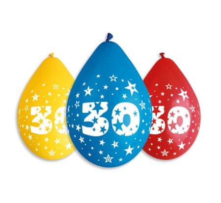 Gemar Latex léggömbök száma 30 mix - a levegő feltöltéséhez - 5 db