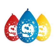 Gemar Latex Balloons Száma 9 színes mix-on levegő-5db