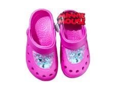 Eplusm Dievčenské sandále Minnie - tmavo ružová