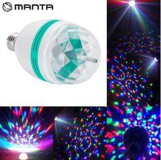 Manta DLB003 EMERALD Disco LED RGB žarnica, za zabave
