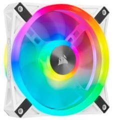Corsair QL120 RGB, 1x120mm, bílý