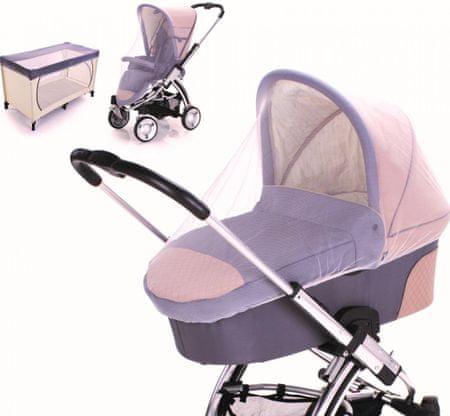 DIAGO mreža proti komarjem, univerzalna, za voziček/posteljico, bela