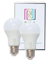 Immax Smart sada 2x žiarovka E27 8,5 W teplá biela, stmievateľná, Zigbee 3.0