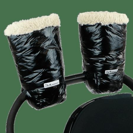 7AM rokavice za otroški voziček Enfant, Black Polar