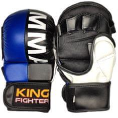 King Fighter MMA rukavice double (modrá/černá) velikost: L