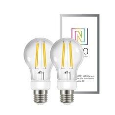 Immax Smart sada žiaroviek filament LED 2x E27 6,3W, teplá biela, stmievateľná, Zigbee 3.0
