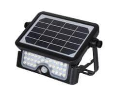 Immax Vonkajšie solárne LED osvetlenie CROAKER s čidlom 5W, čierne