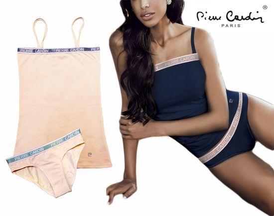 Pierre Cardin komplet (tielko+nohavičky) - marhuľová - L