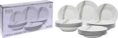 EXCELLENT Jídelní sada talířů RIGA porcelán 18 ks
