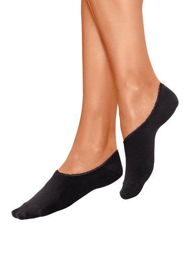 "Dámske bambusové ponožky ""ťapky"" - čierne - 38–41"