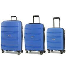 Rock Sada cestovních kufrů ROCK TR-0174/3 PP - modrá