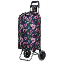 Aerolite Nákupní taška na kolečkách HOPPA ST-689 - floral