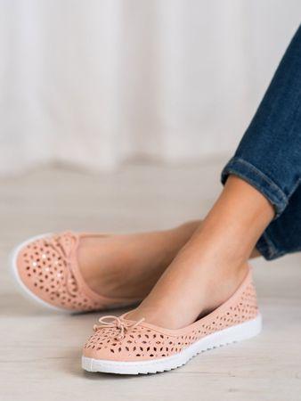 Női balerina cipő 62360, bézs és barna árnyalat, 38