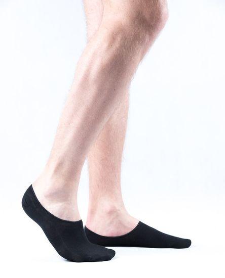 Pánske antibakteriálne bambusové ponožky ťapky čierne - 43–46