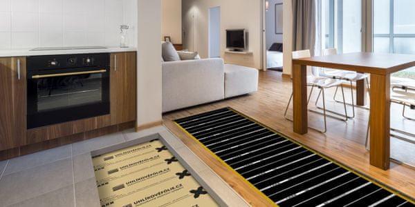 Vykurovacia podlahová uhlíková fólia LARX CarbonKit jednoduchá inštalácia, inštalácia doma, mokrá, suchá, do poteru, pod podlahovú krytinu, odolná