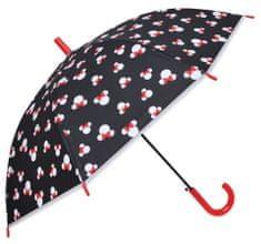 Eplusm Vystreľovací dáždnik Minnie transparentný - čierna