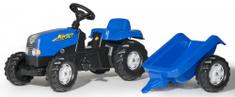Rolly Toys Šliapací traktor Rolly Kid s vlečkou modrý