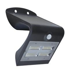 Immax Vonkajšie solárne LED osvetlenie s čidlom 3.2W, čierna