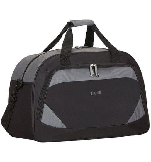 AZURE Cestovní taška ICE 7558 - černá/šedá
